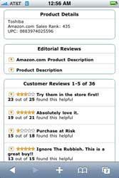 Amazon on iPhone