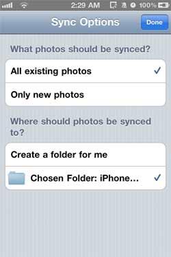 CameraSync Folder