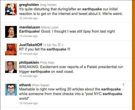 D.C. Earthquake Tweets