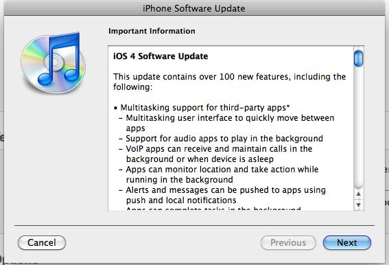 iOS4 Features
