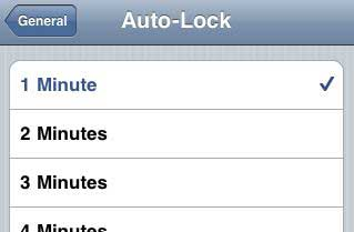 iPhone Auto-Lock
