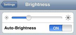 iPhone brightness