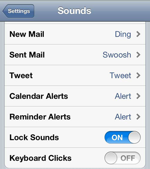 Turn off iPhone keyboard click sound