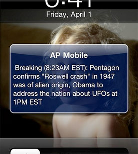 iPhone Prank: AP Mobile UFO Sighting