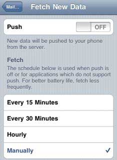 iPhone push & fetch data