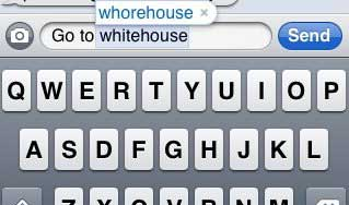 iPhone white house to whorehouse