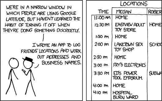 xkcd Latitude comic