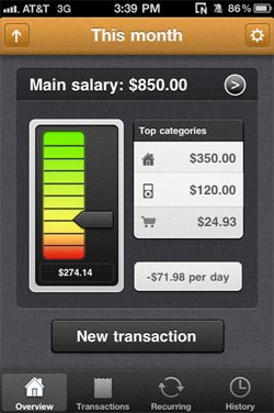 MoneyBook for iPhone