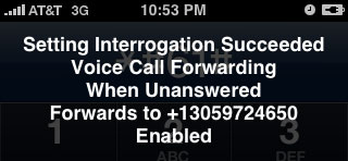 iPhone voice call forwarding